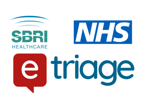 SBRI, NHS, eTriage logos